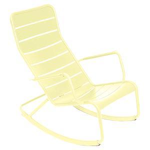 Rocking chair LUXEMBOURG Fermob citron givré