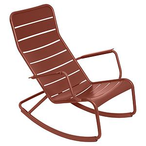Rocking chair LUXEMBOURG Fermob rouge ocre