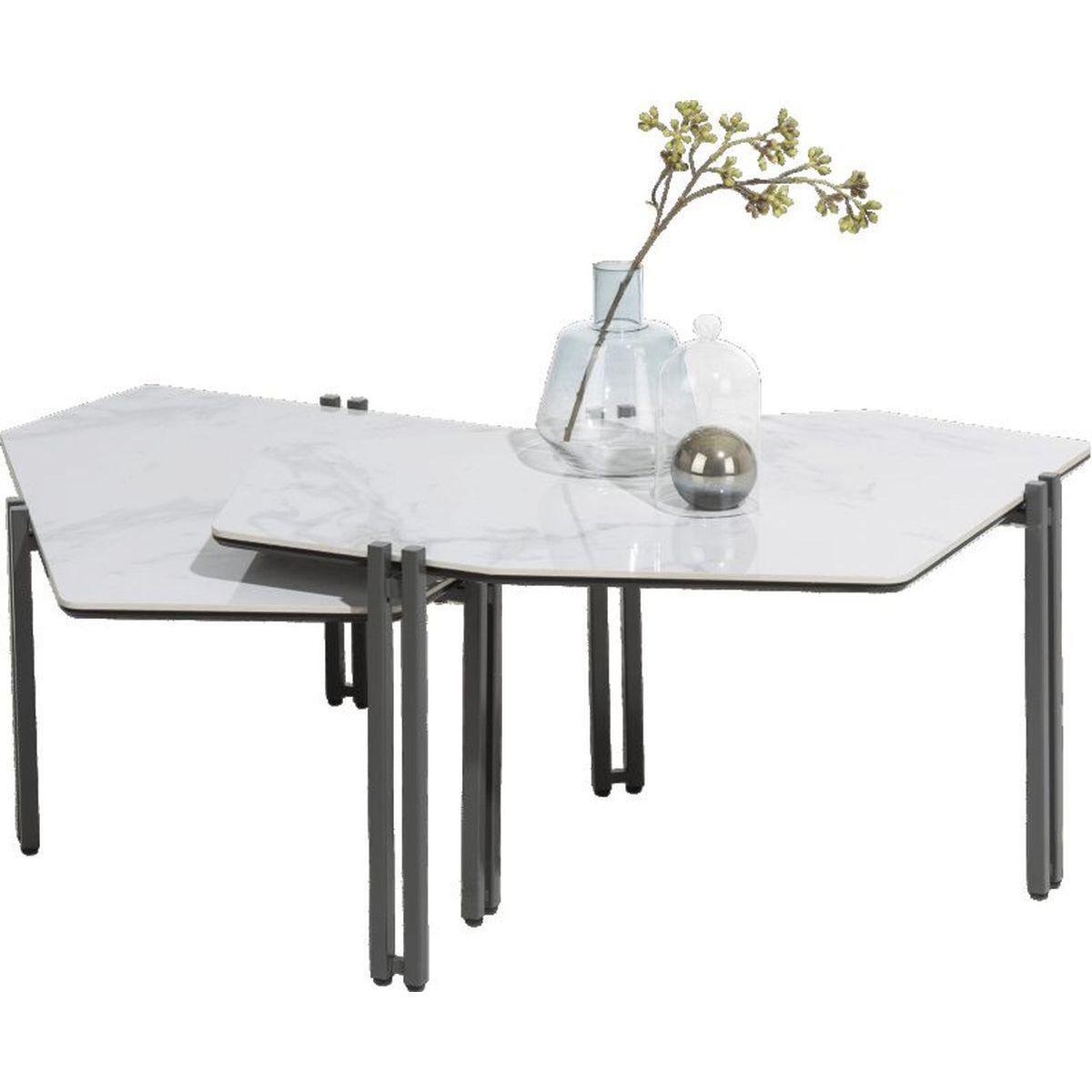 Set de 2 table basse GLASGOW Xooon
