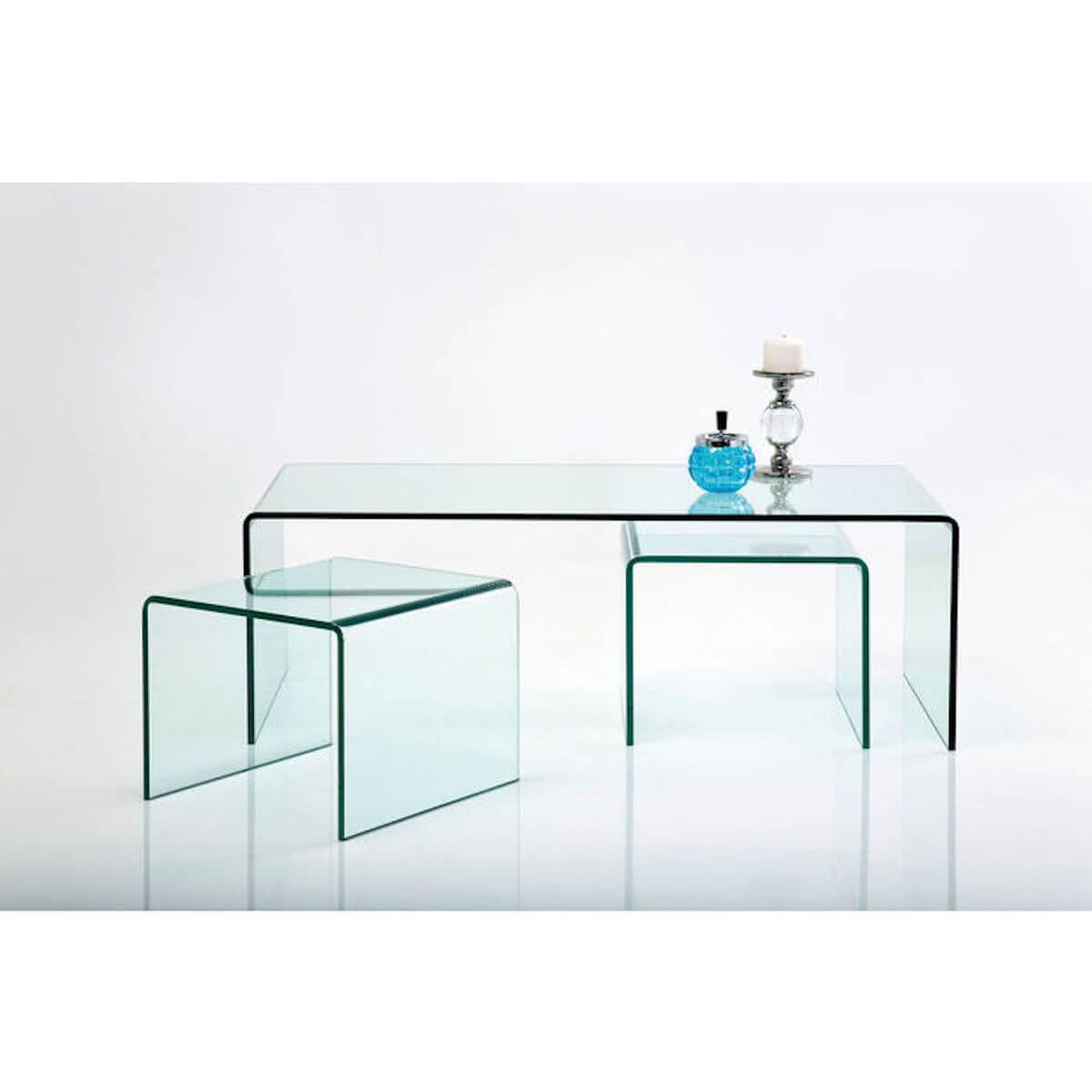 Abitare Living Lu Set Table Basse Clear Club Kare Design