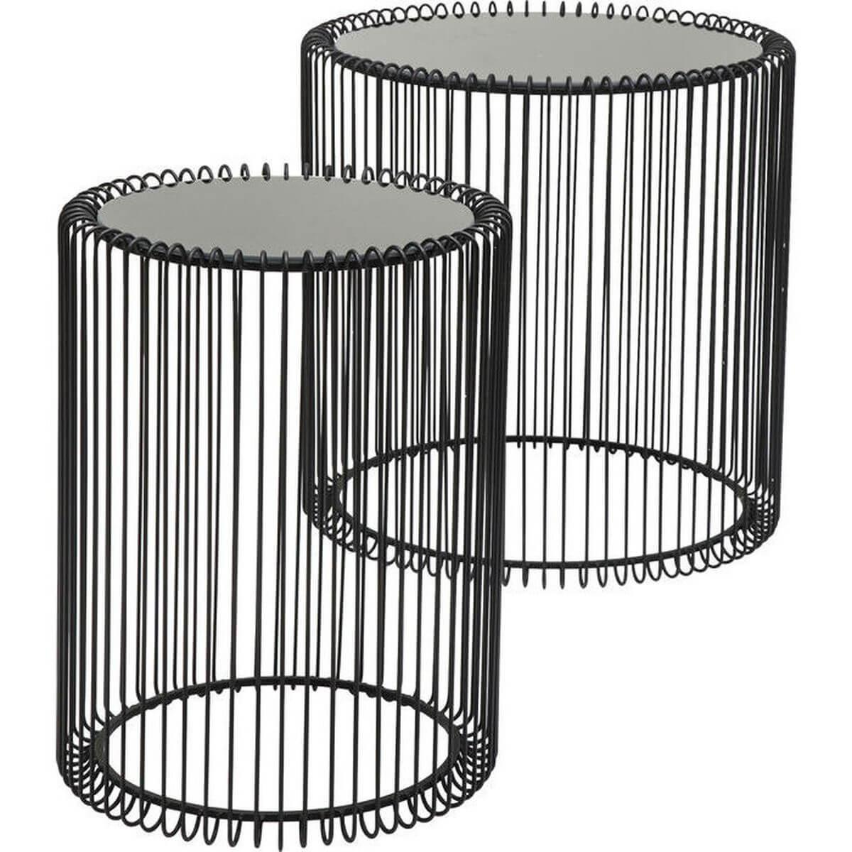 Set tables d'appoint WIRE Kare Design