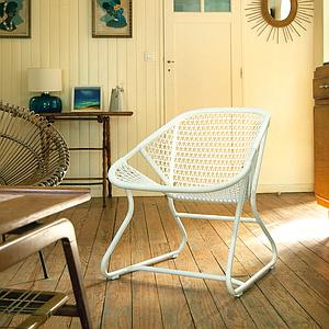 SIXTIES by Fermob Fauteuil structure blanc