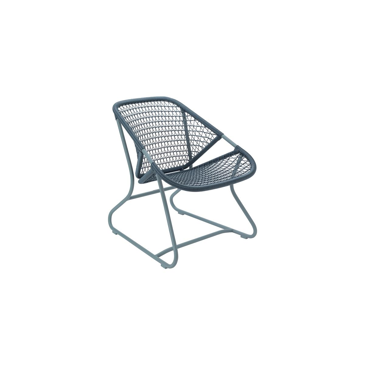 SIXTIES by Fermob Fauteuil structure Gris orage
