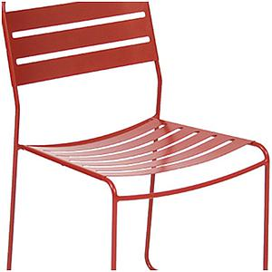 SURPRISING by Fermob Chaise Rouge coquelicot