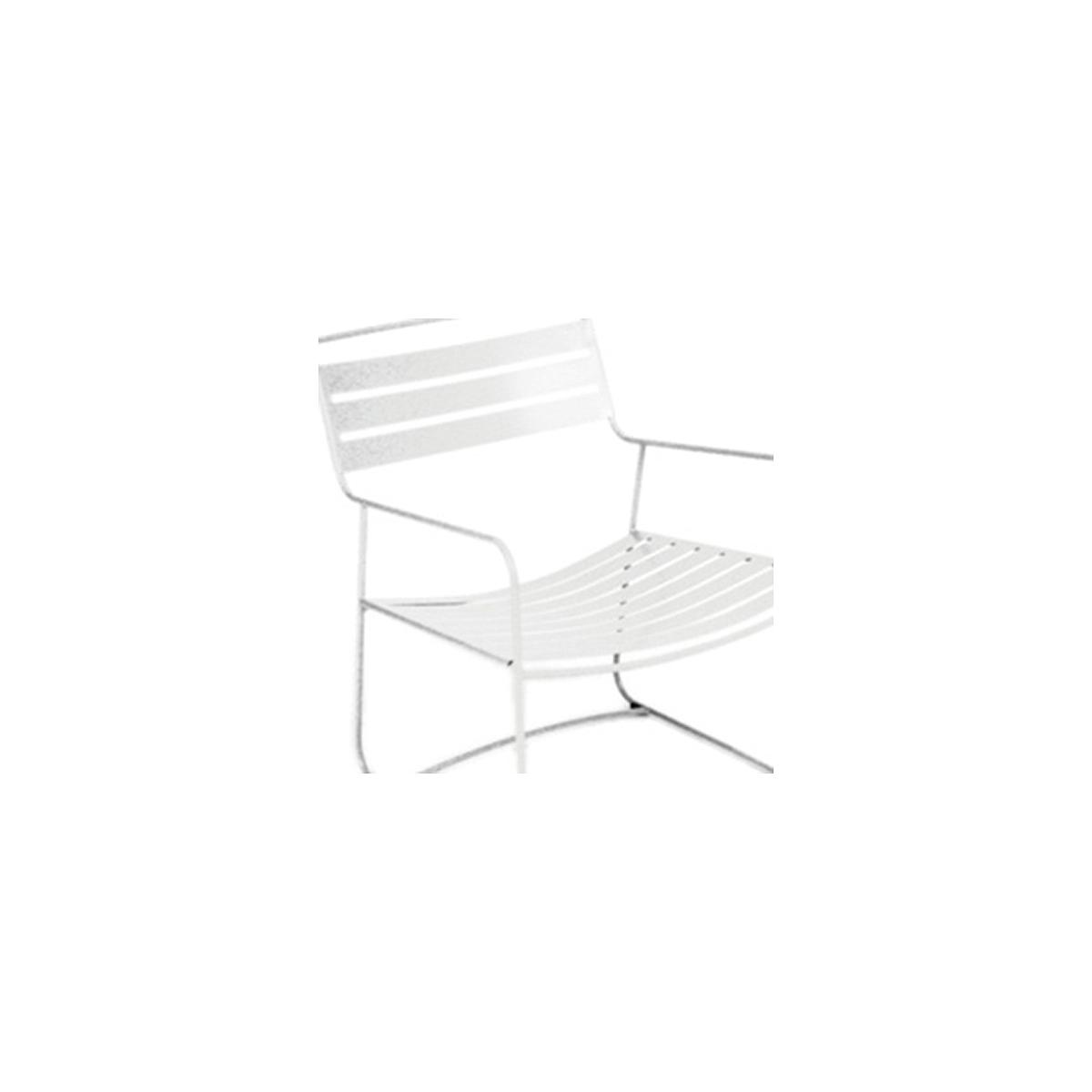 SURPRISING by Fermob Fauteuil bas Blanc coton