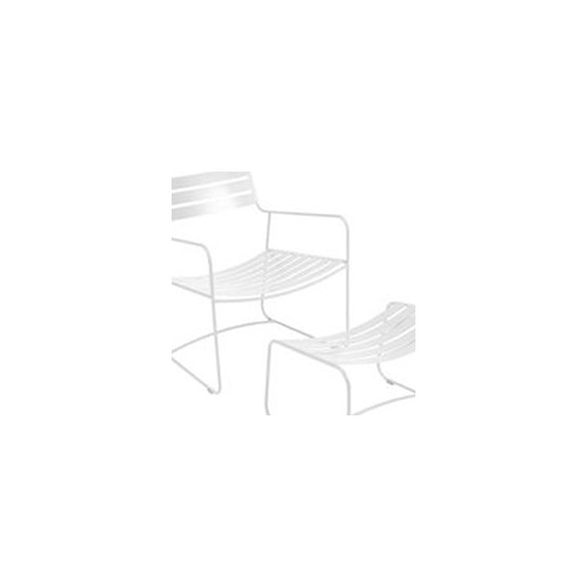 SURPRISING by Fermob Fauteuil + repose pied Blanc cotton