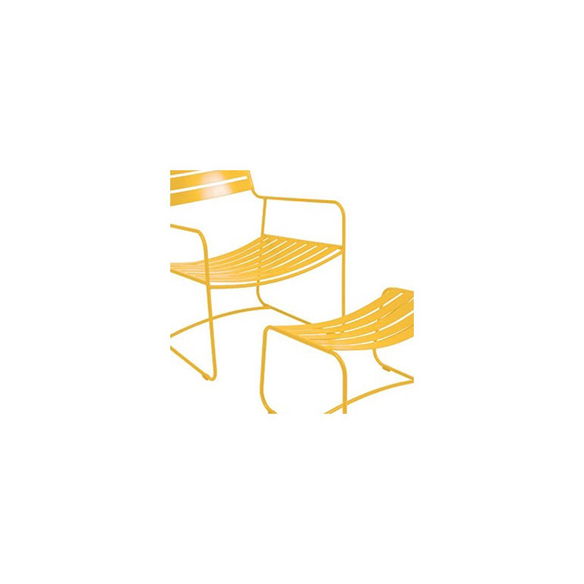 SURPRISING by Fermob Fauteuil + repose pied Jaune miel