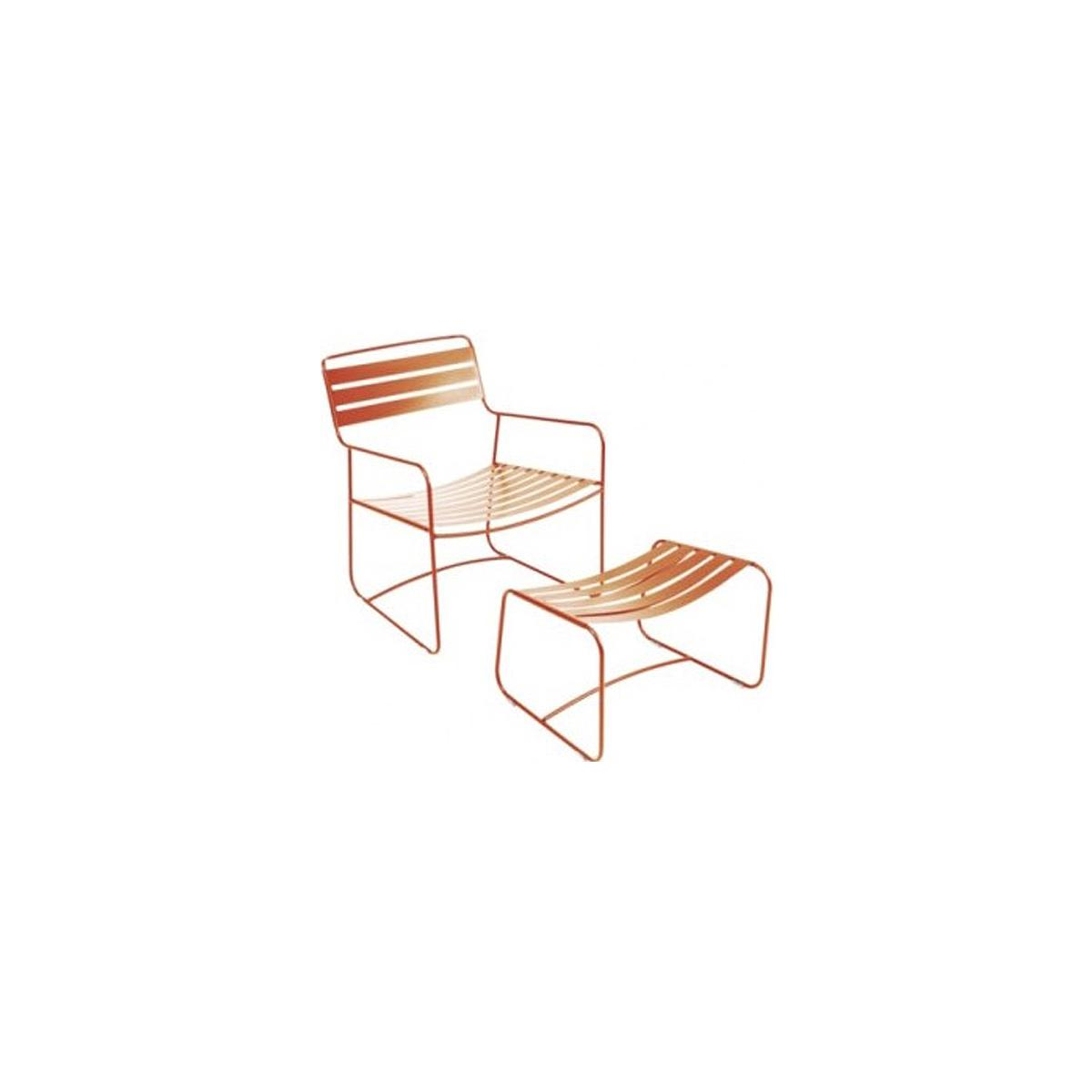 SURPRISING by Fermob Fauteuil + repose pied Orange carotte