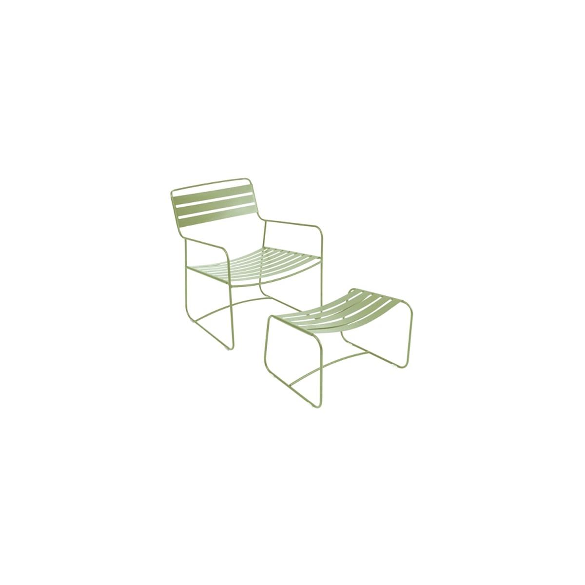 SURPRISING by Fermob Fauteuil + repose pied Vert tilleul
