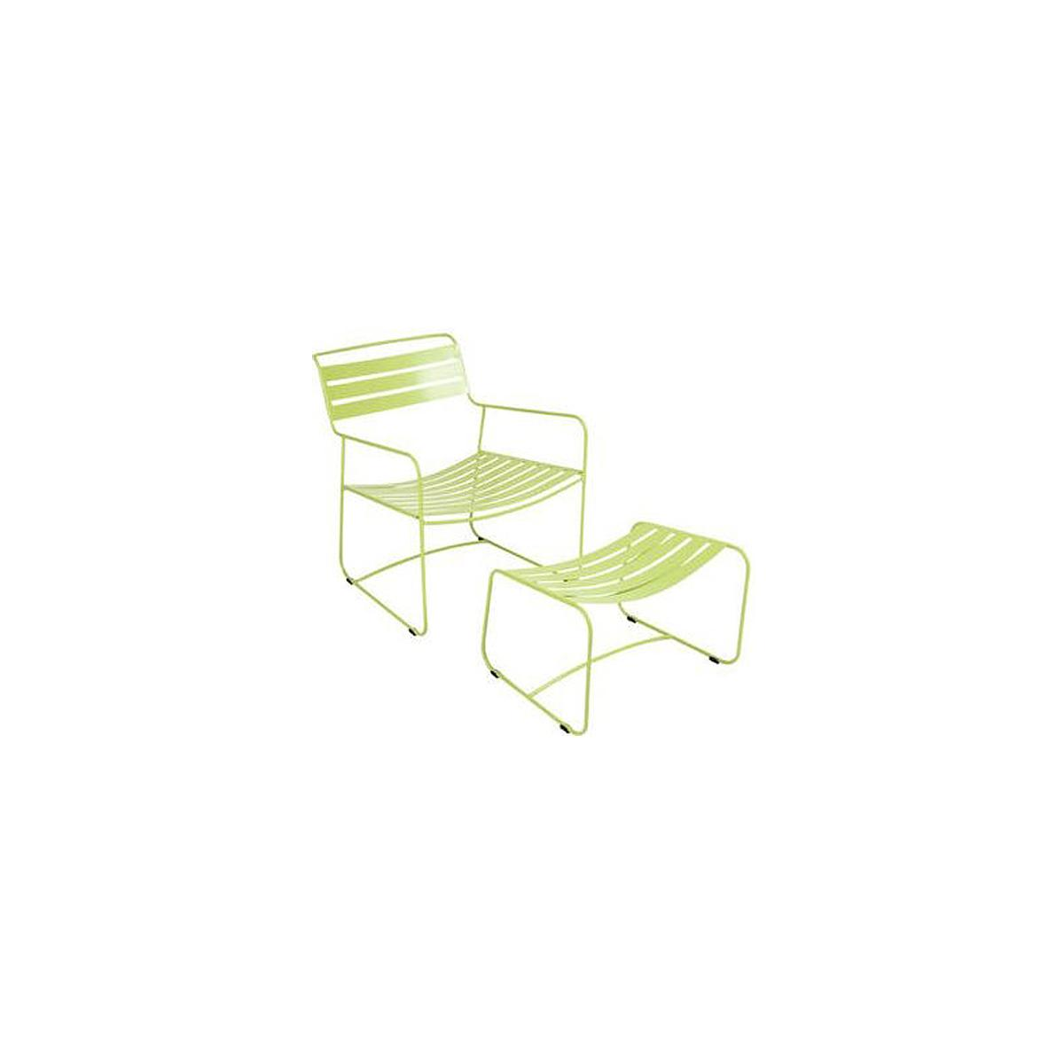 SURPRISING by Fermob Fauteuil + repose pied Vert verveine