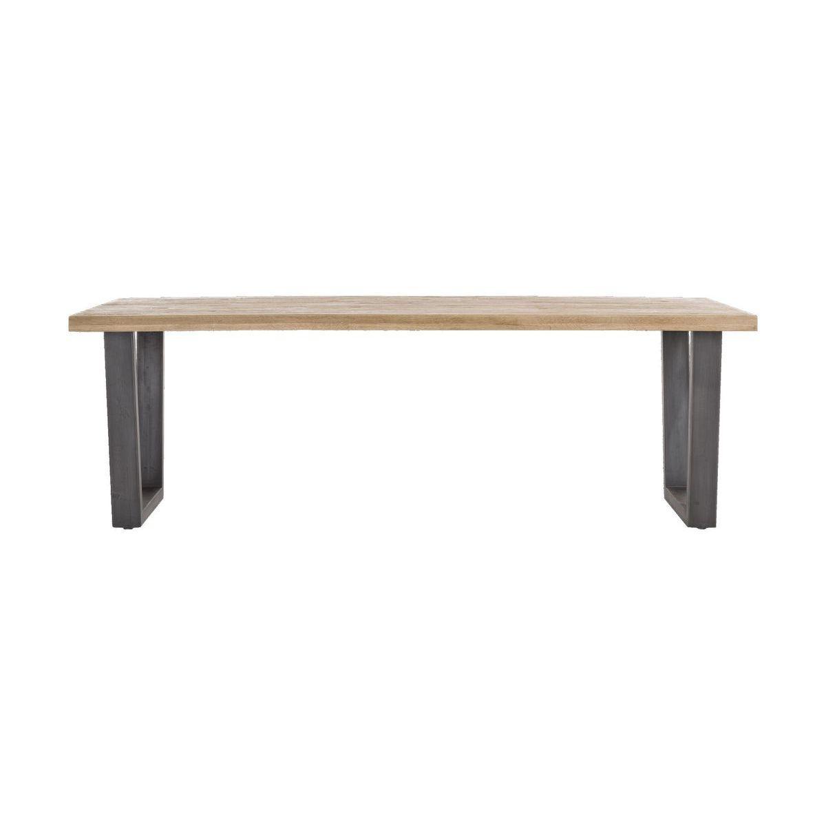 Table 100x250cm METALOX HetH pieds V métal