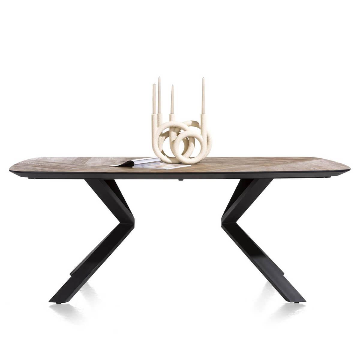 Table 110x200cm FRESNO Xooon mosaïque