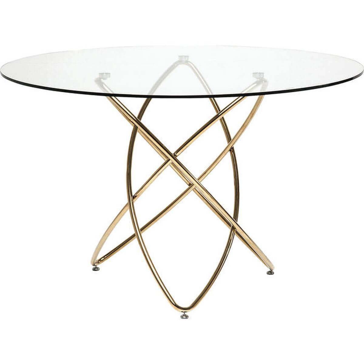 Table Molekular Gold Ø 120cm