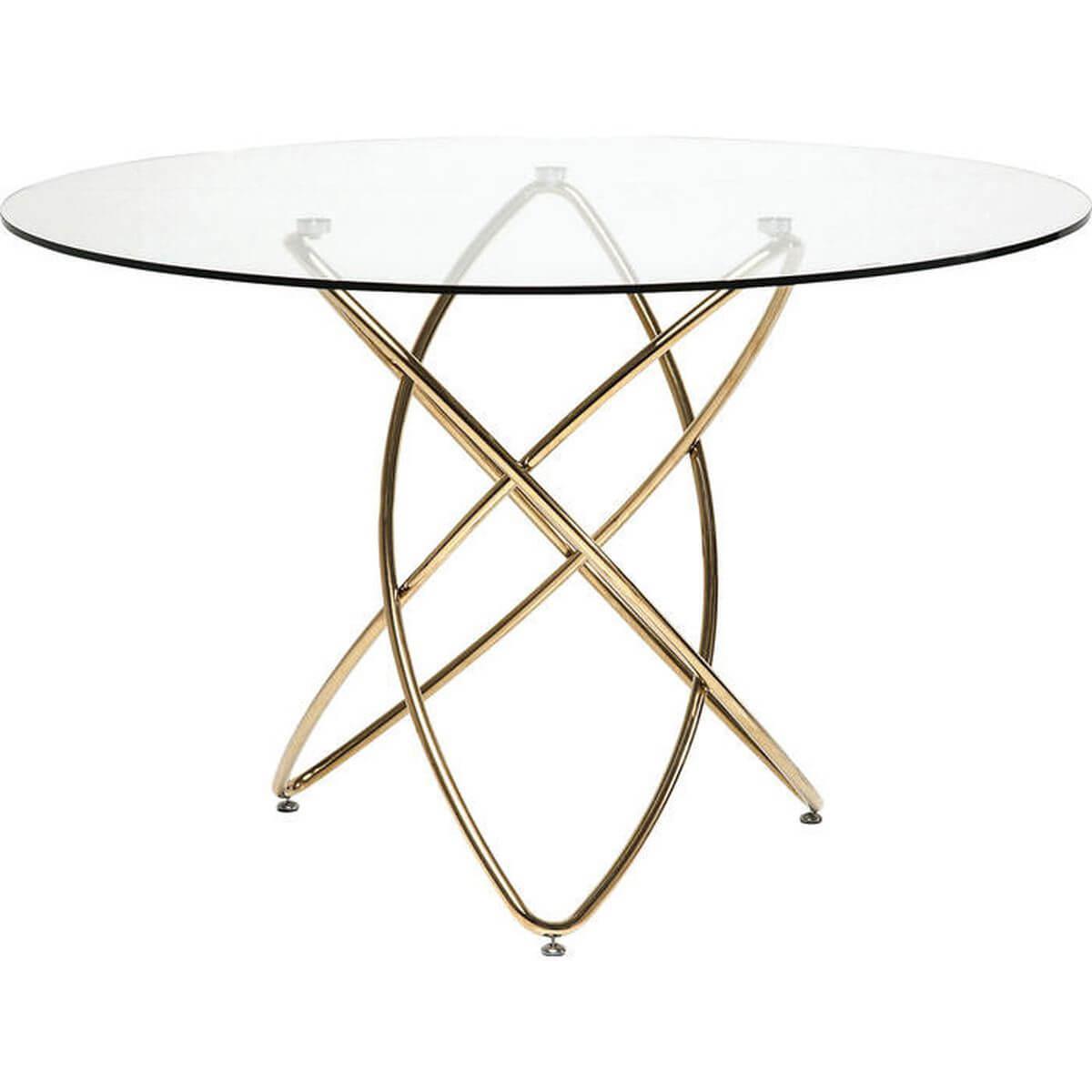 Table Molekular Gold Ø 120cm