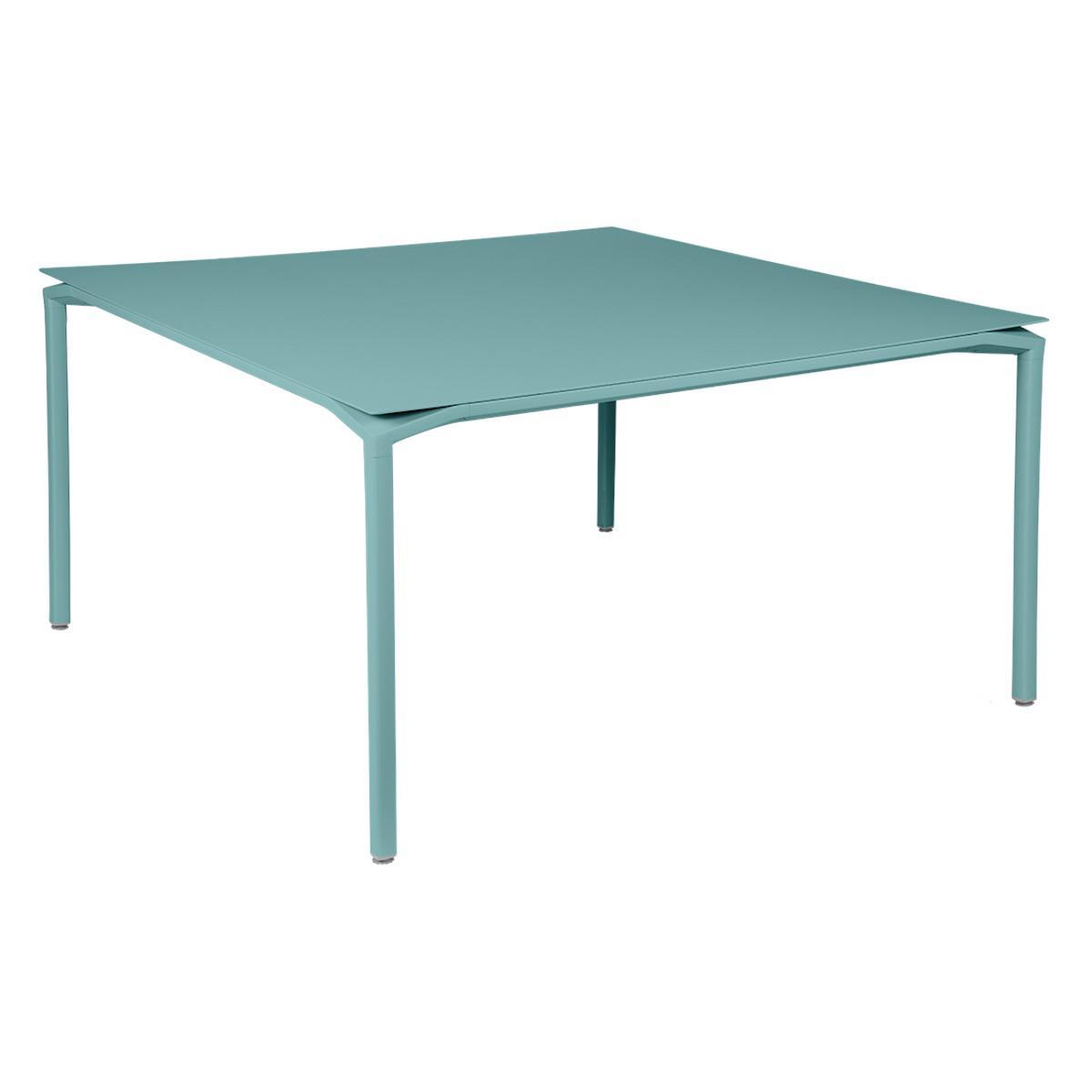 Table 140x140cm CALVI Fermob bleu lagune