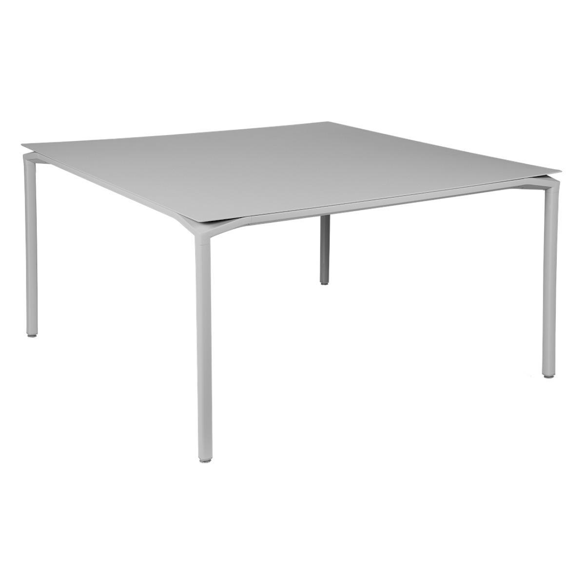 Table 140x140cm CALVI Fermob gris métal