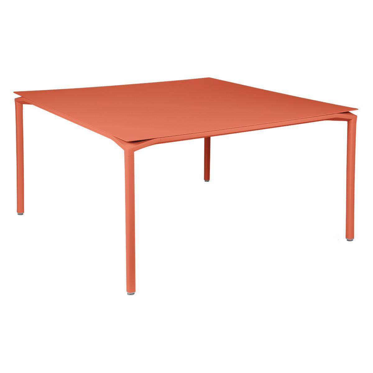 Table 140x140cm CALVI Fermob  orange capucine