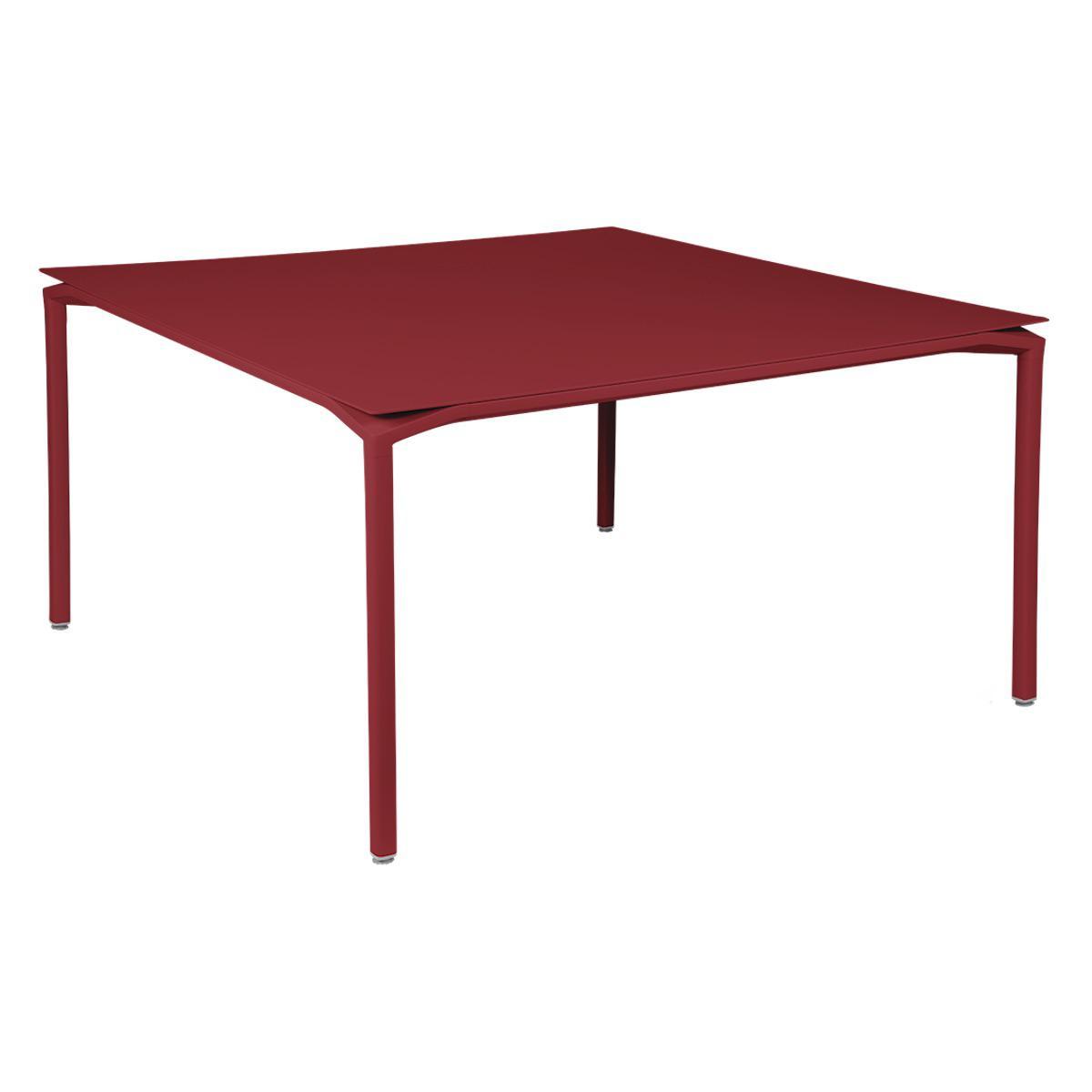 Table 140x140cm CALVI Fermob piment