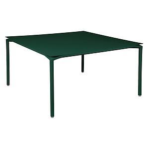 Table 140x140cm CALVI Fermob vert cèdre