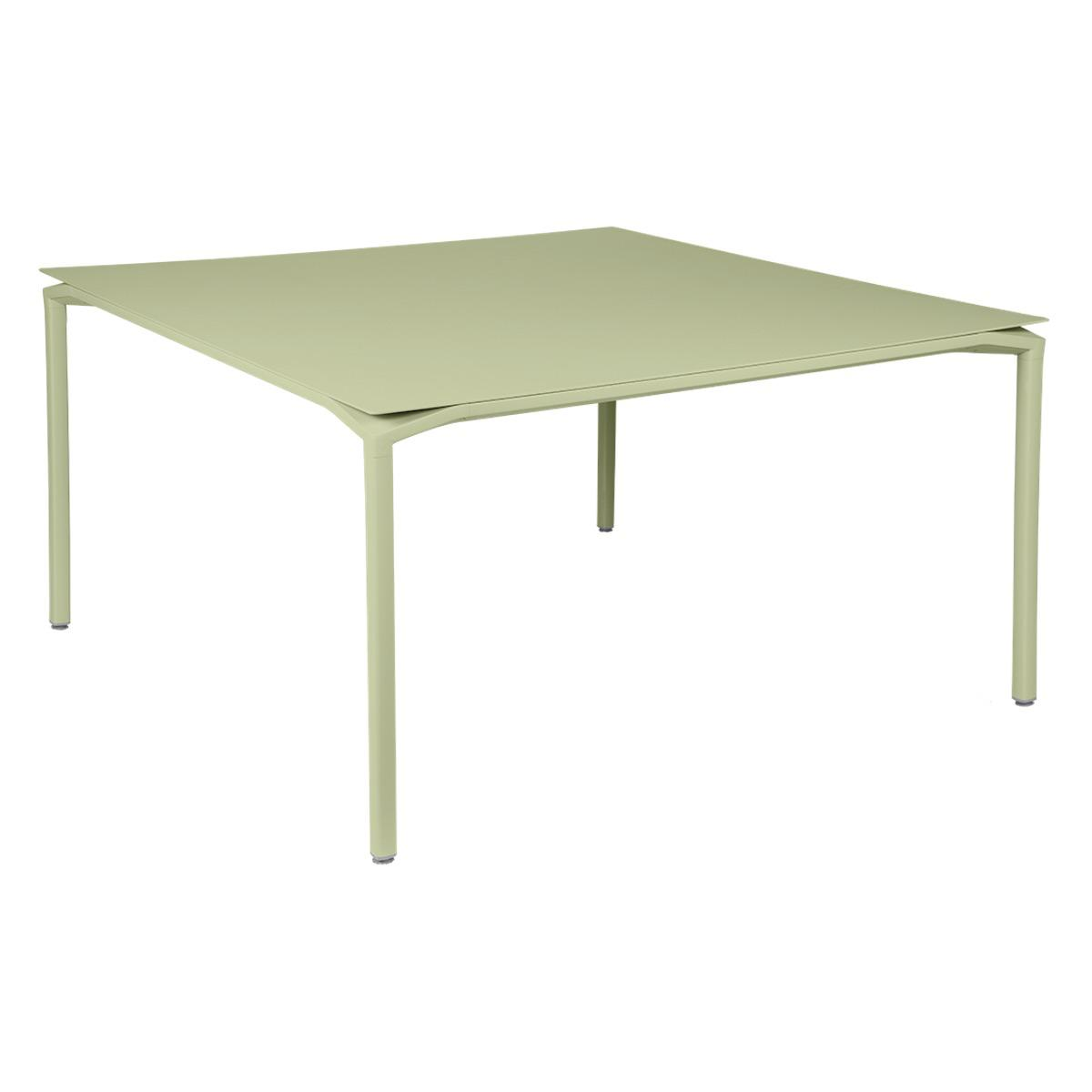 Table 140x140cm CALVI Fermob vert tilleul