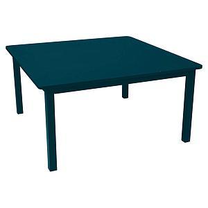 Table 143x143cm CRAFT Fermob bleu acapulco