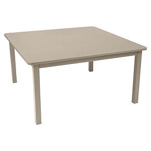Table 143x143cm CRAFT Fermob brun muscade