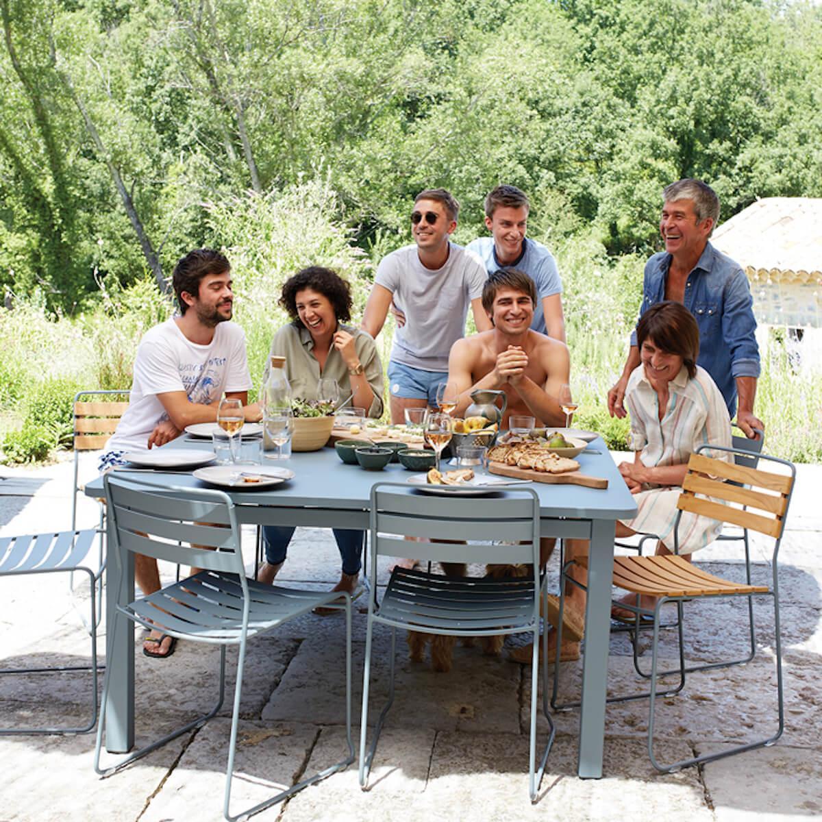 Table 143x143cm CRAFT Fermob citron givré