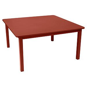 Table 143x143cm CRAFT Fermob rouge ocre