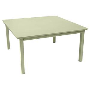 Table 143x143cm CRAFT Fermob vert tilleul