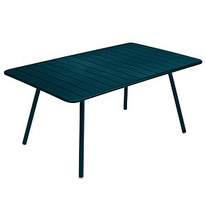 Table 165x100cm LUXEMBOURG Fermob bleu acapulco