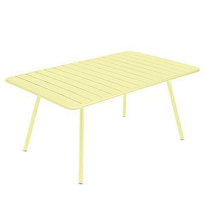 Table 165x100cm LUXEMBOURG Fermob citron givré