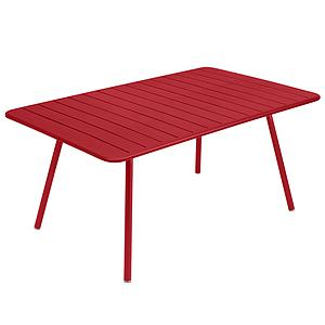 Table 165x100cm LUXEMBOURG Fermob coquelicot
