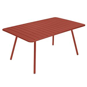 Table 165x100cm LUXEMBOURG Fermob rouge ocre