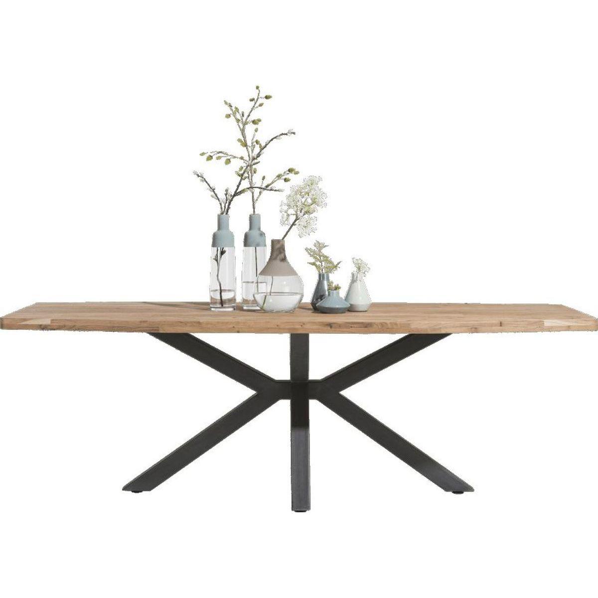 Table 180x100cm QUEBEC HetH pied noir