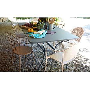 Table 180x100cm ROMANE Fermob bleu abysse