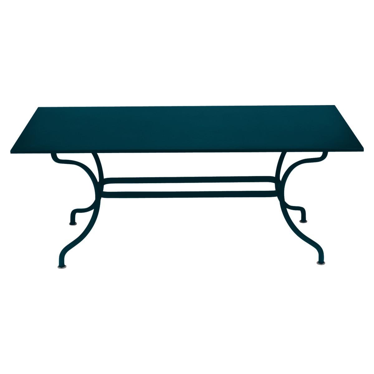 Table 180x100cm ROMANE Fermob bleu acapulco