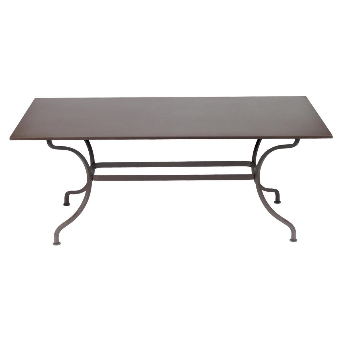Table 180x100cm ROMANE Fermob brun rouille