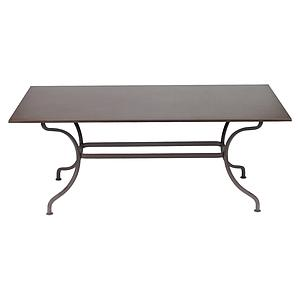 Table 180x100cm ROMANE Fermob brun rouille