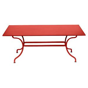 Table 180x100cm ROMANE Fermob capucine