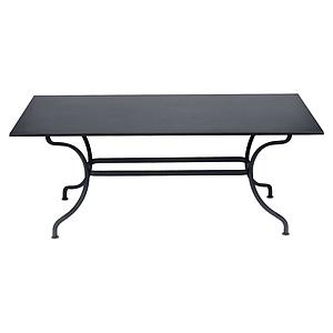 Table 180x100cm ROMANE Fermob carbone