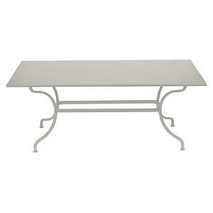 Table 180x100cm ROMANE Fermob gris argile
