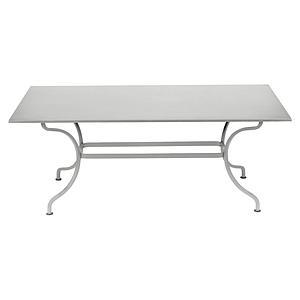 Table 180x100cm ROMANE Fermob gris métal