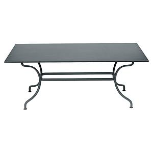 Table 180x100cm ROMANE Fermob gris orage