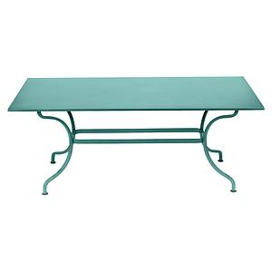 Table 180x100cm ROMANE Fermob lagune