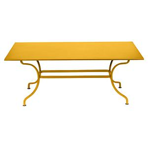 Table 180x100cm ROMANE Fermob miel