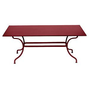 Table 180x100cm ROMANE Fermob piment