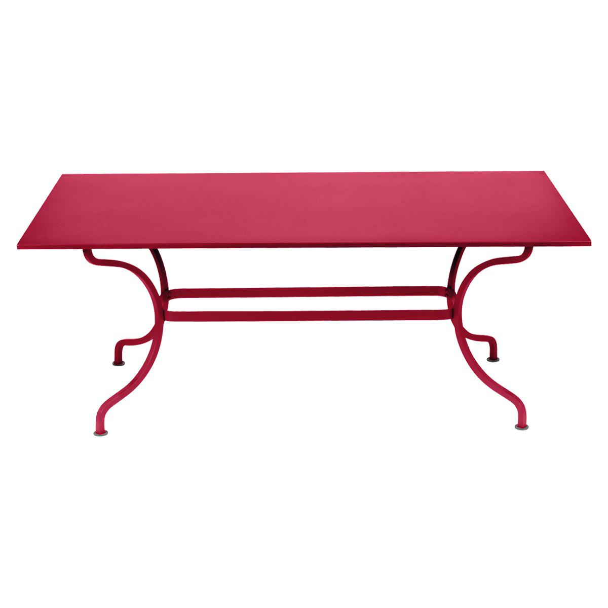 Table 180x100cm ROMANE Fermob rose praline