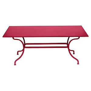 Table 180x100cm ROMANE Fermob rose praline