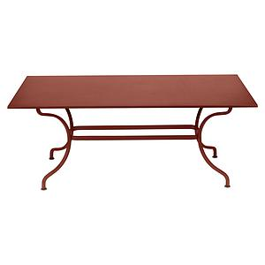 Table 180x100cm ROMANE Fermob rouge ocre