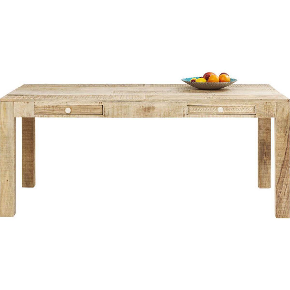 Table Puro Kare Design 2 tiroirs 180x90cm